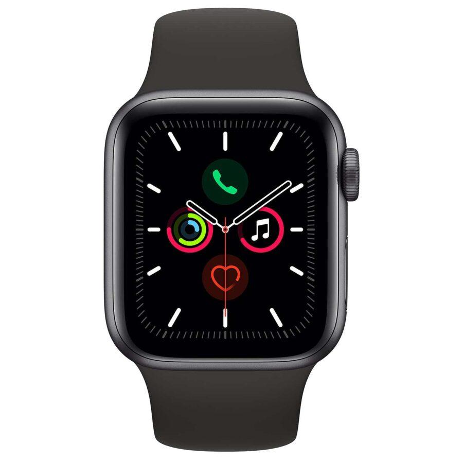 Apple Watch Series 5 GPS Aluminium Argent Bracelet Sport 44 mm - Noir - Neuf Garantie 1 an en Stock | Trocadéro Paris