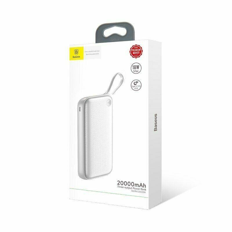 Batterie Externe USB-C PD BASEUS 20000MAH - 18W - Blanc Accessoires Garantie 1 an | McPrice Paris Trocadéro