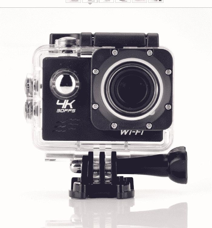 Caméra Full HD 4K DV Go Action étanche WiFi Sports et accessoires 32 Go - Gris | Trocadéro Paris