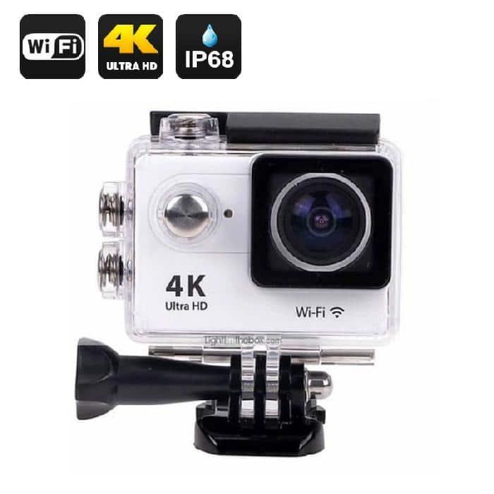 Caméra Full HD 4K DV Go Action étanche WiFi Sports et accessoires - Gris | Trocadéro Paris