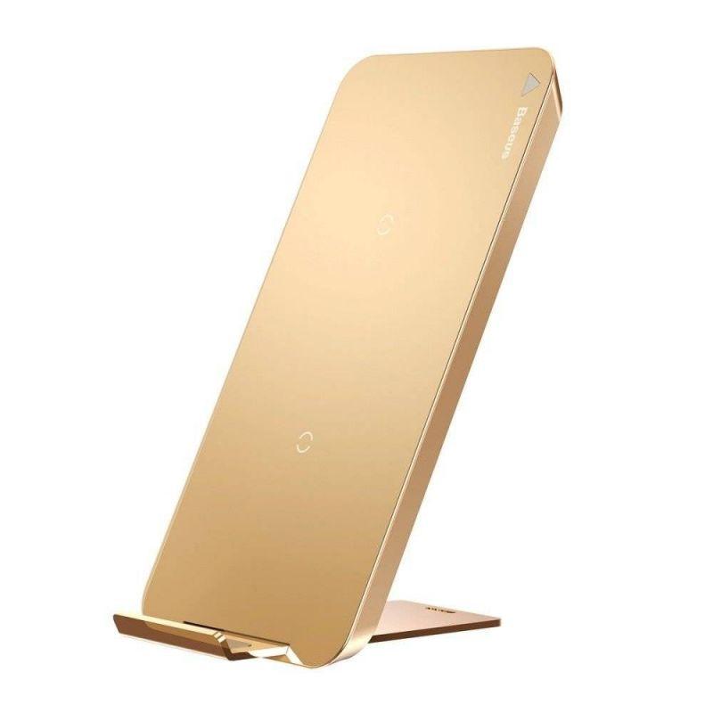 Chargeur Sans Fil QI Double Bobine BASEUS WIC1 - Gold Accessoires Garantie 1 an | McPrice Paris Trocadéro V1.jpg