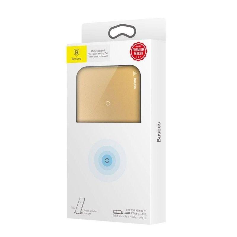 Chargeur Sans Fil QI Double Bobine BASEUS WIC1 - Gold Accessoires Garantie 1 an | McPrice Paris Trocadéro V2.jpg