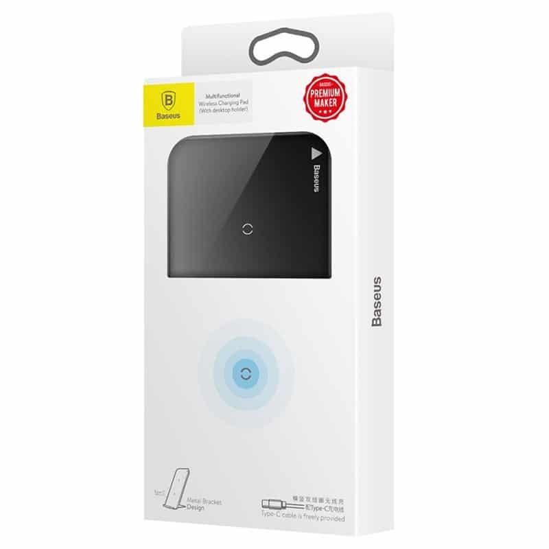 Chargeur Sans Fil QI Double Bobine BASEUS WIC1 - Noir Accessoires Garantie 1 an | McPrice Paris Trocadéro