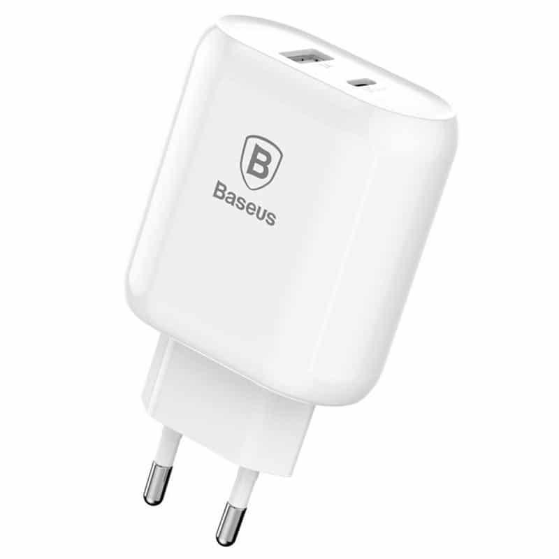 Chargeur USB-C PD3.0 BASEUS BOJURE & Câble Lightning - 32W - Blanc Accessoires Garantie 1 an | McPrice Paris Trocadéro