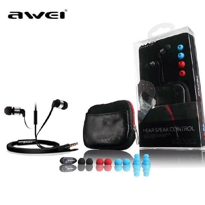 Écouteur intra-auriculaires Awei ES600i compatible jack 3.5mm - Rouge - Accessoires Garantie 1 an en Stock   Trocadéro Paris