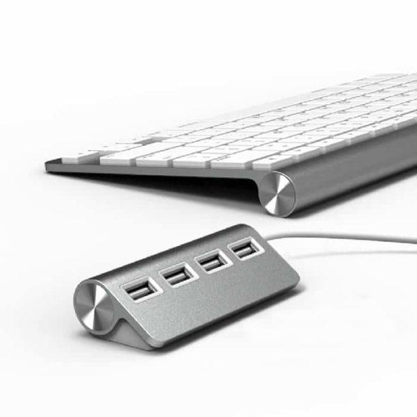 HUB USB en Alu 4 ports 2.0 pour Mac - Accessoires Garantie 1 an en Stock | Trocadéro Paris