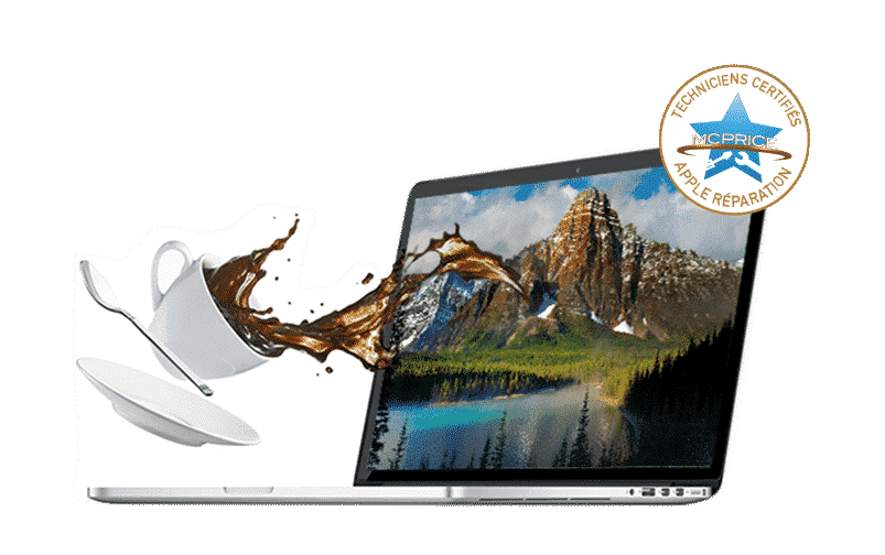 J'ai Renversé du Liquide (eau, soda, café) sur mon MacBook | McPrice Réparation