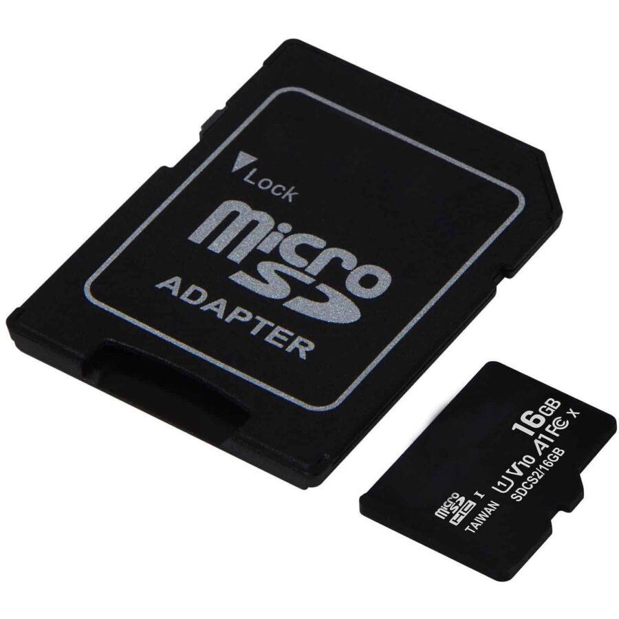 Accessoires Apple | En Stock | Carte Micro SDCard (+ Adaptateur SD) - 16 Go (Classe 10) | McPrice Paris Trocadéro