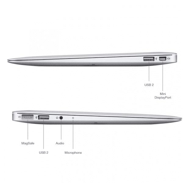 Apple Reconditionné MacBook Air 13 Pouces 1,6GHz/i5/4Go/128Go SSD - Argent   McPrice Paris Trocadero