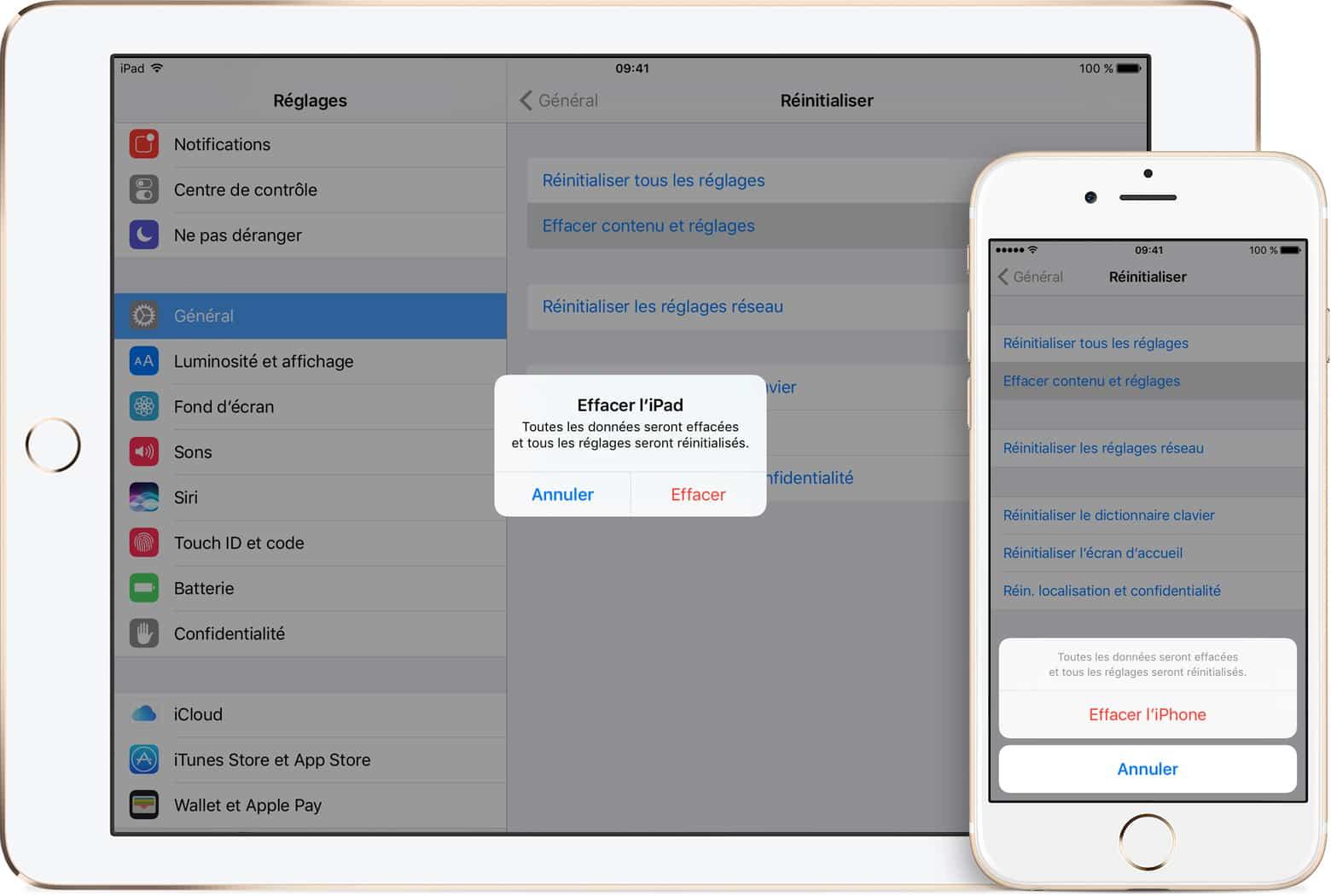 Procédure à suivre avant de vendre ou de céder votre iPhone, iPad ou iPod touch