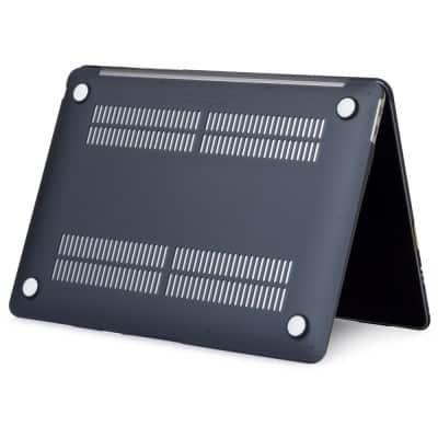 Coque de protection intégrale rigide mate pour MacBook Air 13 Pouces A1932 - Noire   McPrice Trocadéro Paris