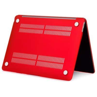 Coque de protection intégrale rigide mate pour MacBook Air 13 Pouces A1932 - Rouge   McPrice Paris Trocadéro
