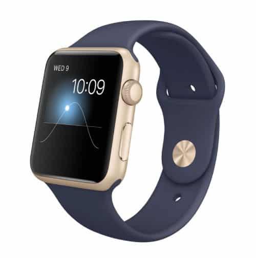 Apple Watch Series 1 Sport 42 mm Aluminium Or Bracelet Sport Bleu Nuit | McPrice Paris Trocadero v1