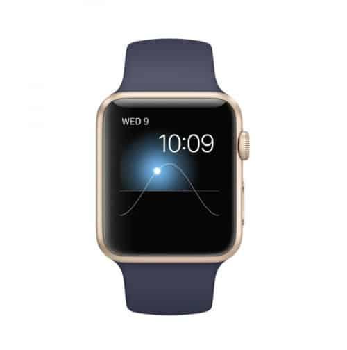 Apple Watch Series 1 Sport 42 mm Aluminium Or Bracelet Sport Bleu Nuit | McPrice Paris Trocadero v4