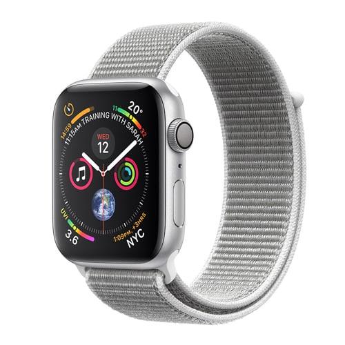 Apple Watch Series 4 GPS - 44mm Boîtier en aluminium argenté avec boucle Sport Seashell   McPrice Paris Trocadero v1
