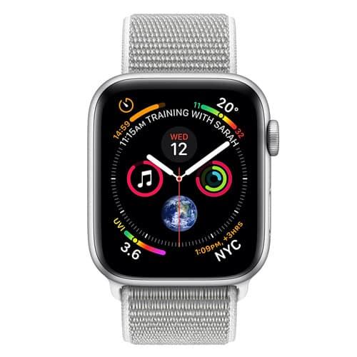 Apple Watch Series 4 GPS - 44mm Boîtier en aluminium argenté avec boucle Sport Seashell | McPrice Paris Trocadero v2