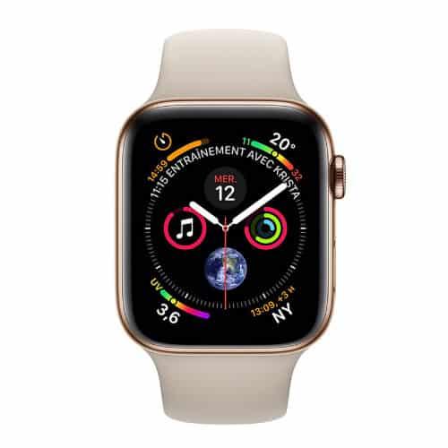 Apple Watch Series 4 GPS + Cellular Acier Or Sport Gris Sable - 44 mm | McPrice Paris Trocadero v2