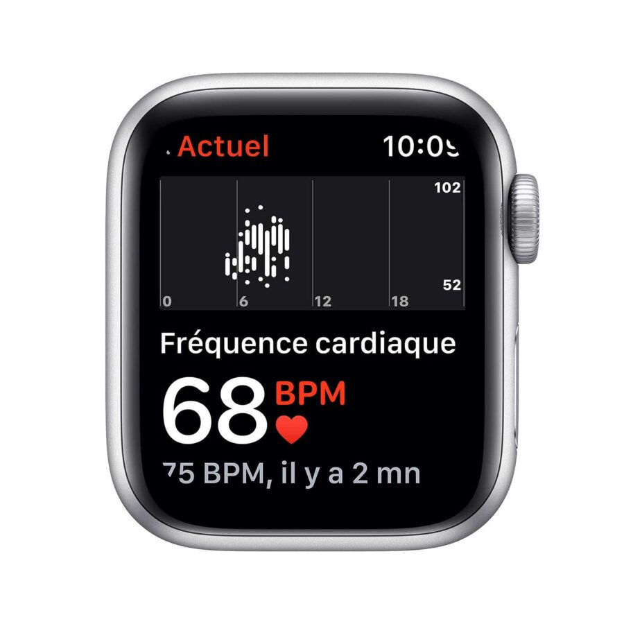 Apple Watch Series SE GPS Aluminium Argent Bracelet Sport 40 mm - Blanc | Neuf en Stock |McPrice Paris Trocadéro