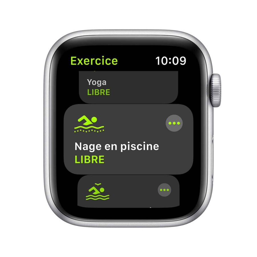 Apple Watch Series SE GPS Aluminium Argent Bracelet Sport 44 mm - Blanc | Neuf en Stock | McPrice Paris Trocadéro
