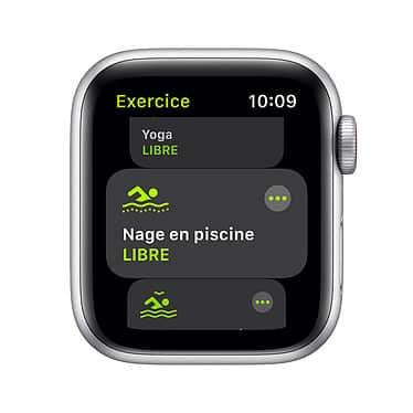 Apple Watch Series SE GPS + Cellular Aluminium Argent Bracelet Sport 40 mm - Blanc | Neuf en Stock | McPrice Paris Trocadéro
