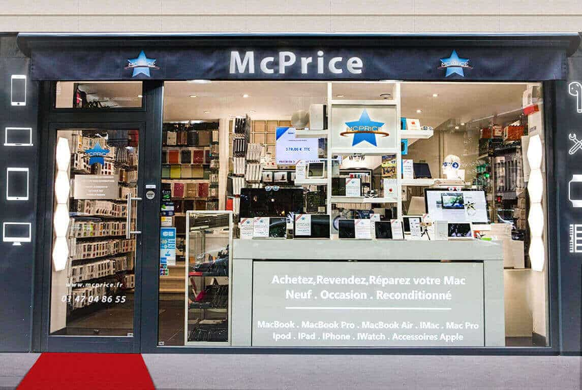 Boutique McPrice Shop Apple Background | McPrice Paris Trocadéro