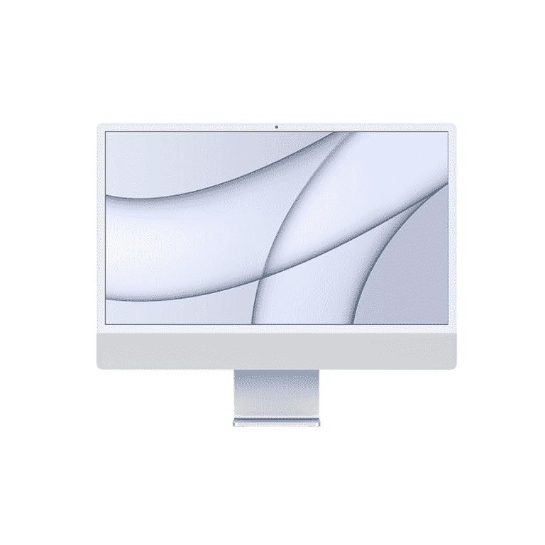 Neuf   Apple iMac 24 Pouces Retina 4,5K Puce Apple M1/8Go/256Go SSD/CPU 8 Cœurs/GPU 7 Cœurs - Argent   McPrice Paris Trocadéro