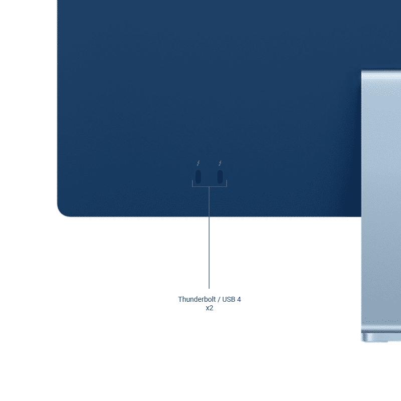 Neuf | Apple iMac 24 Pouces Retina 4,5K Puce Apple M1/8Go/256Go SSD/CPU 8 Cœurs/GPU 7 Cœurs - Bleu | McPrice Paris Trocadéro