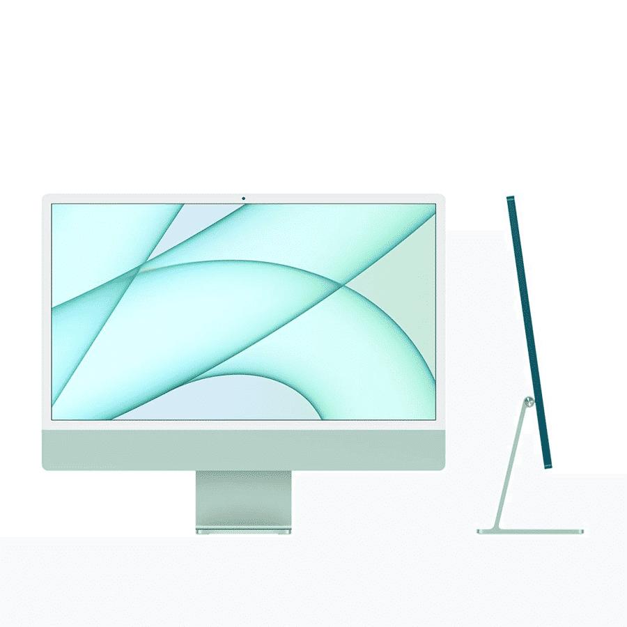 Neuf | Apple iMac 24 Pouces Retina 4,5K Puce Apple M1/8Go/256Go SSD/CPU 8 Cœurs/GPU 7 Cœurs - Vert McPrice Paris Trocadéro