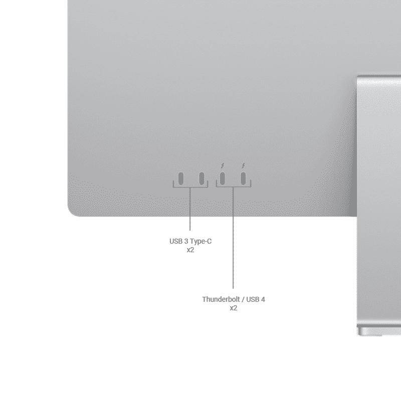 Neuf   Apple iMac 24 Pouces Retina 4,5K Puce Apple M1/8Go/256Go SSD/CPU 8 Cœurs/GPU 8 Cœurs - Argent   McPrice Paris Trocadéro