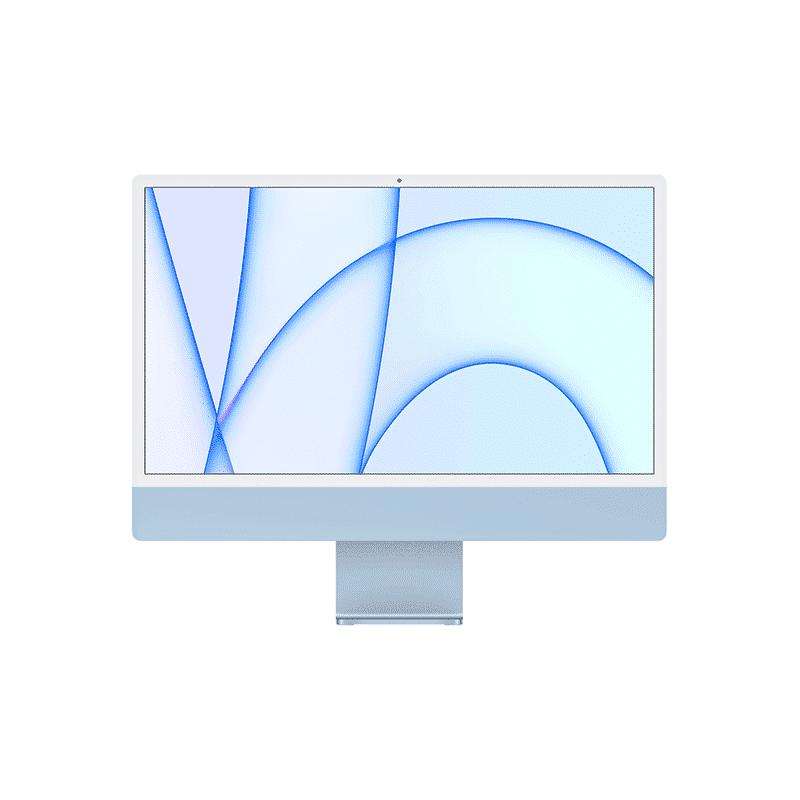 Neuf | Apple iMac 24 Pouces Retina 4,5K Puce Apple M1/8Go/256Go SSD/CPU 8 Cœurs/GPU 8 Cœurs - Bleu| McPrice Paris Trocadéro
