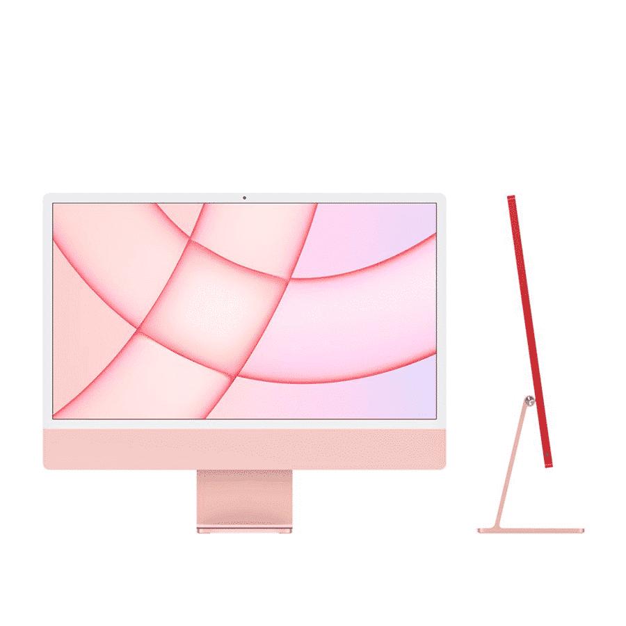 Neuf   Apple iMac 24 Pouces Retina 4,5K Puce Apple M1/8Go/256Go SSD/CPU 8 Cœurs/GPU 8 Cœurs - Rose   McPrice Paris Trocadéro