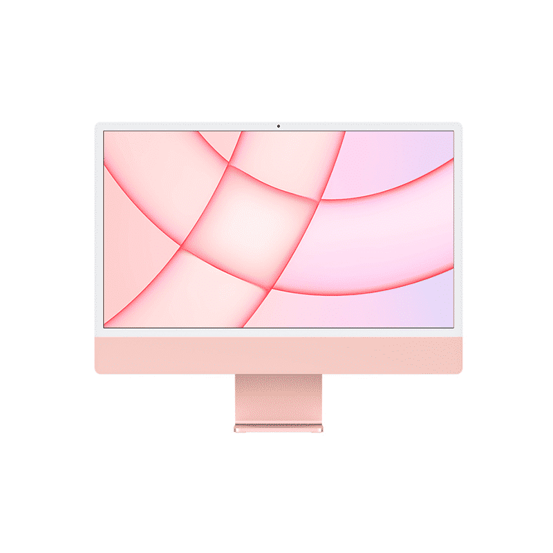 Neuf | Apple iMac 24 Pouces Retina 4,5K Puce Apple M1/8Go/256Go SSD/CPU 8 Cœurs/GPU 8 Cœurs - Rose | McPrice Paris Trocadéro