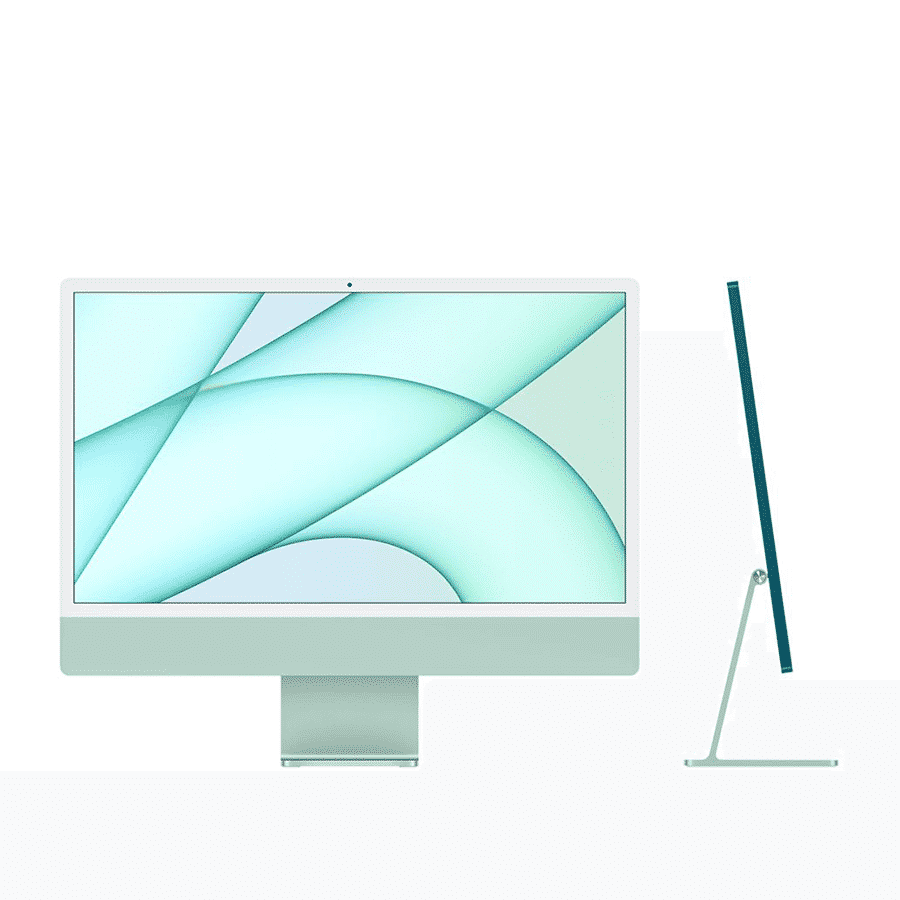Neuf   Apple iMac 24 Pouces Retina 4,5K Puce Apple M1/8Go/256Go SSD/CPU 8 Cœurs/GPU 8 Cœurs - Vert   McPrice Paris Trocadéro