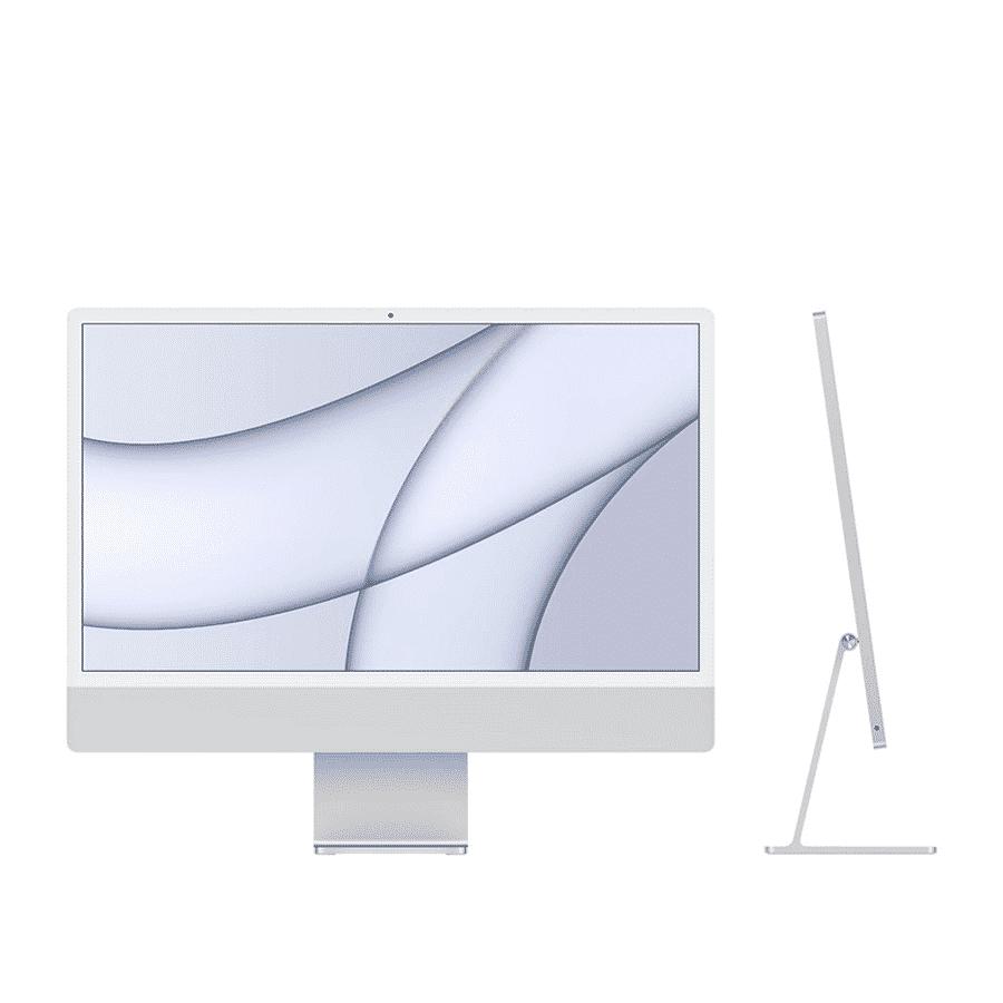 Neuf | Apple iMac 24 Pouces Retina 4,5K Puce Apple M1/8Go/512Go SSD/CPU 8 Cœurs/GPU 8 Cœurs - Argent| McPrice Paris Trocadéro