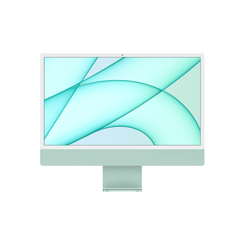 Neuf | Apple iMac 24 Pouces Retina 4,5K Puce Apple M1/8Go/512Go SSD/CPU 8 Cœurs/GPU 8 Cœurs - Vert | McPrice Paris Trocadéro