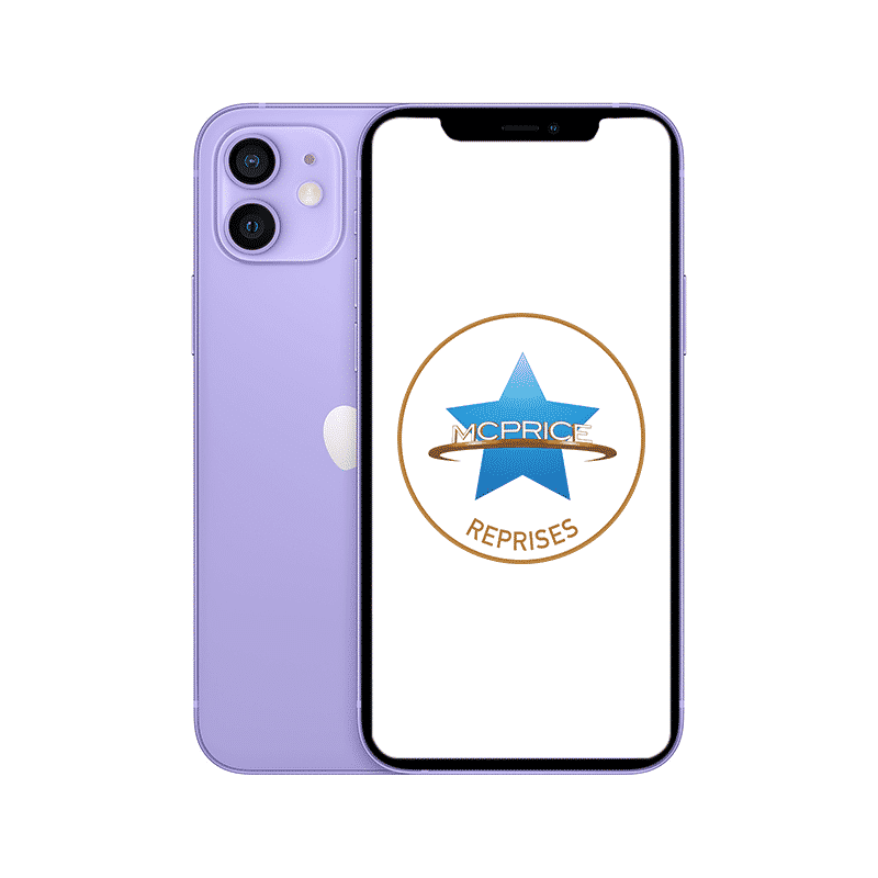 Reprise  Apple iPhone 12 Mini 64 Go (Déverrouillé) - Mauve   McPrice Paris Trocadéro